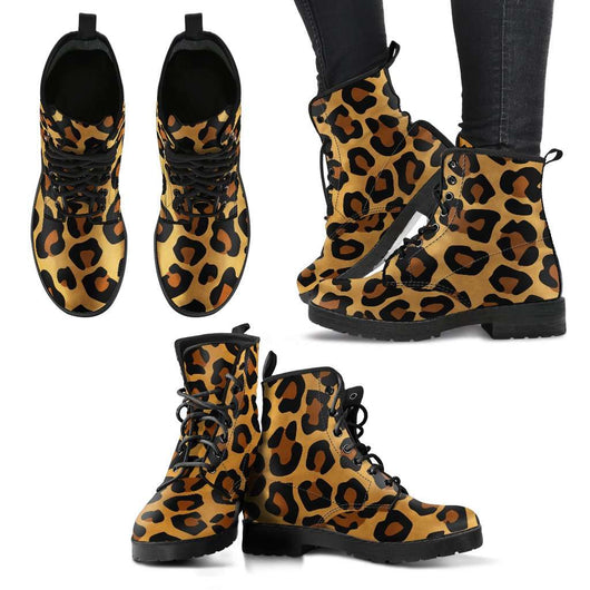 Leopard Skin Womens Leather Boots - STUDIO 11 COUTURE