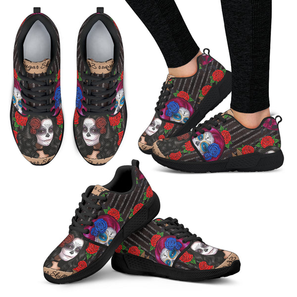 Sugar Skull Gothic Lolita Women Athletic Sneakers