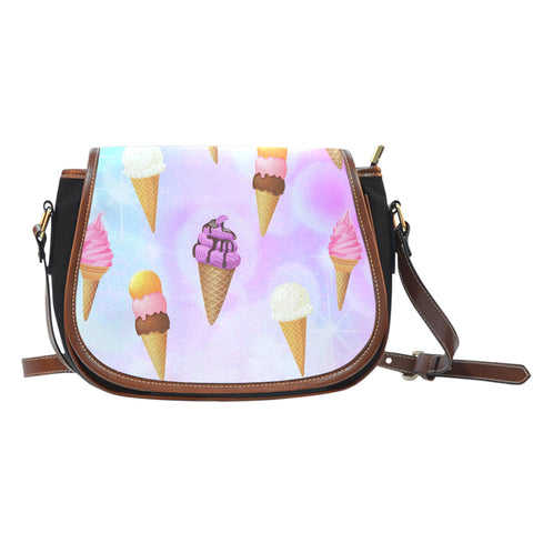 Ice Cream 1 Leather Saddle Bag