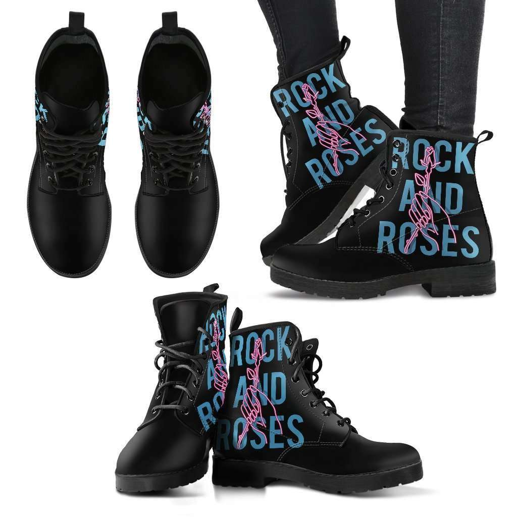 Rock And Roses Womens Leather Boots - STUDIO 11 COUTURE