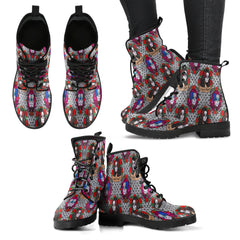 Sugar Skull Gothic Halloween Women Leather Boots