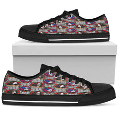 Sugar Skull Gothic Halloween Women Low Top Shoes