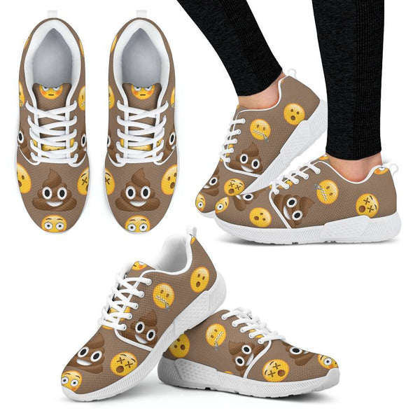 Emoji Poop Womens Athletic Sneakers