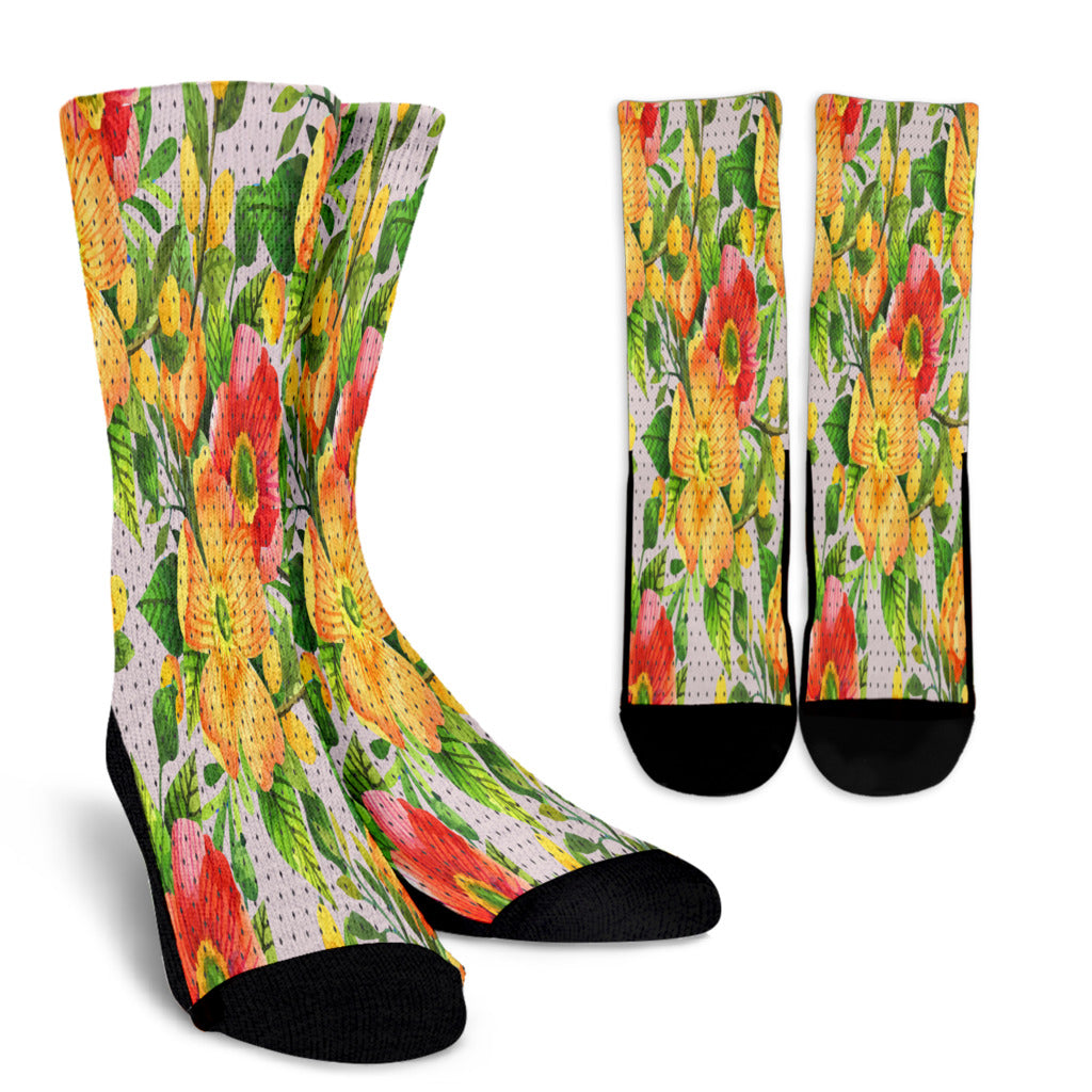Amazing Floral Spring Crew Socks
