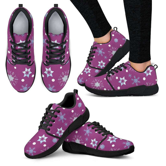 Frozen Snowing Womens Athletic Sneakers - STUDIO 11 COUTURE