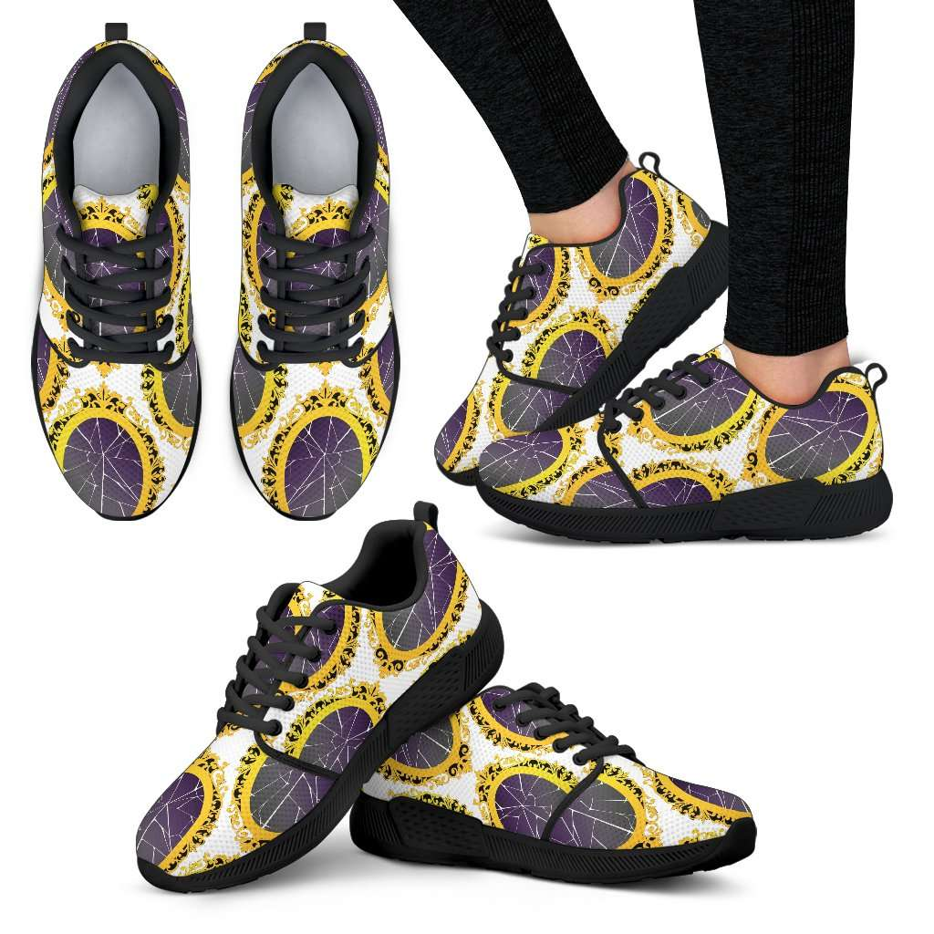 Snow White Broken Mirror Womens Athletic Sneakers