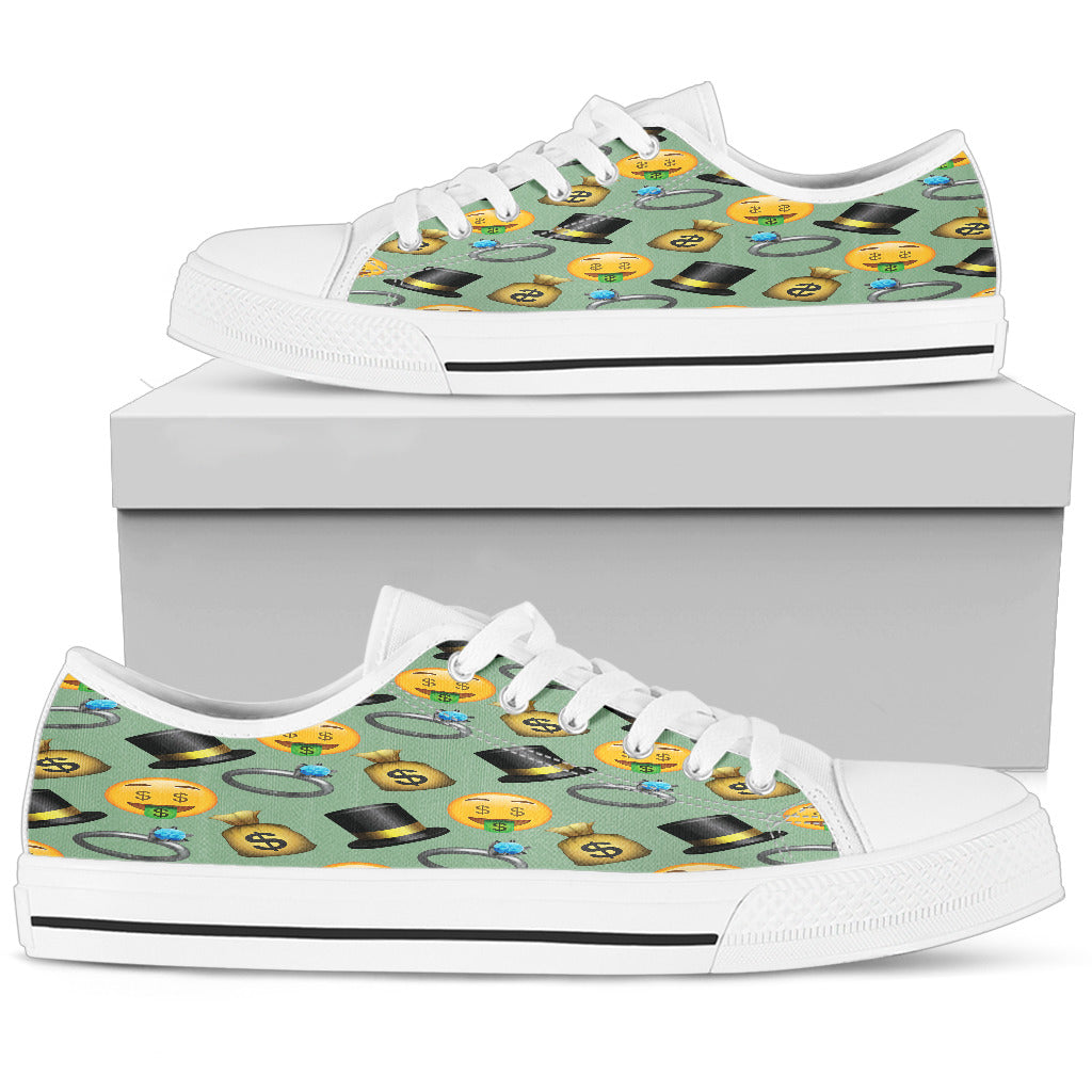 Emoji Money Womens Low Top Shoes