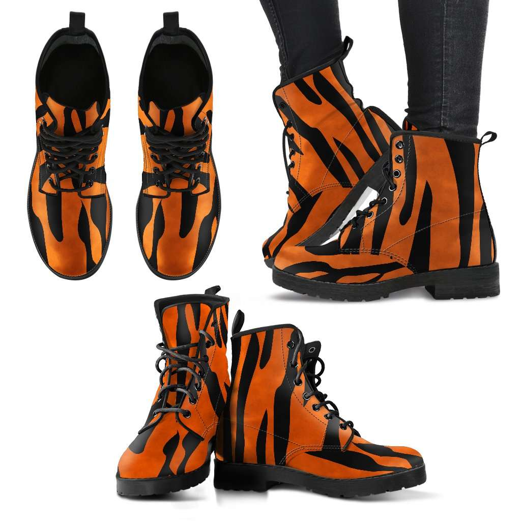 Tiger Skin Womens Leather Boots - STUDIO 11 COUTURE
