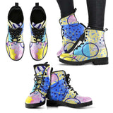 80's Fashion Style Womens Leather Boots - STUDIO 11 COUTURE