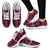 Woodland Creatures Red Womens Athletic Sneakers - STUDIO 11 COUTURE