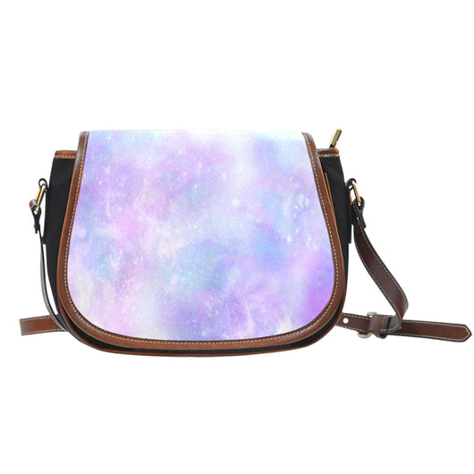 Galaxy Pastel 7 Crossbody Shoulder Canvas Leather Saddle Bag - STUDIO 11 COUTURE