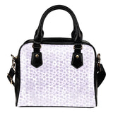 Lady Butterfly Themed Design B5 Women Fashion Shoulder Handbag Black Vegan Faux Leather