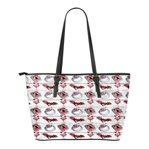 Vampire Themed Design C13 Women Small Leather Tote Bag