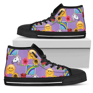 Emoji Happy Place Womens High Top Shoes