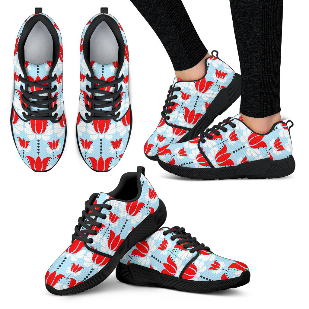 Art Deco Floral Women Athletic Sneakers