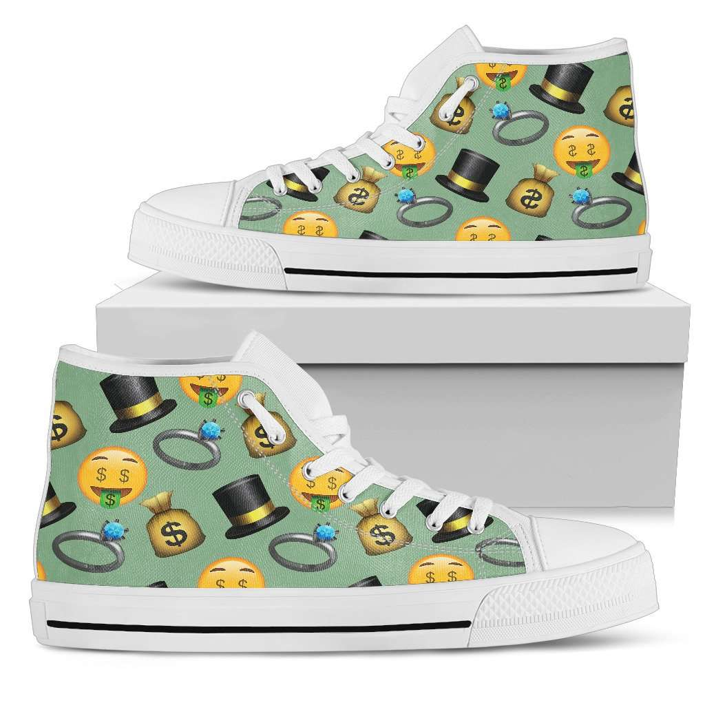 Emoji Money Womens High Top Shoes