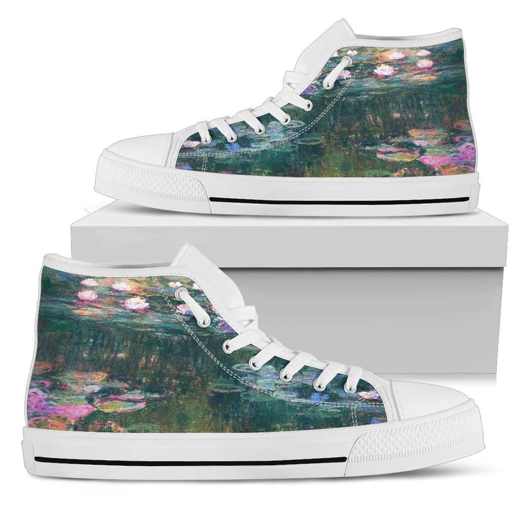 Claude Monet Water Lilies Womens High Top Shoes
