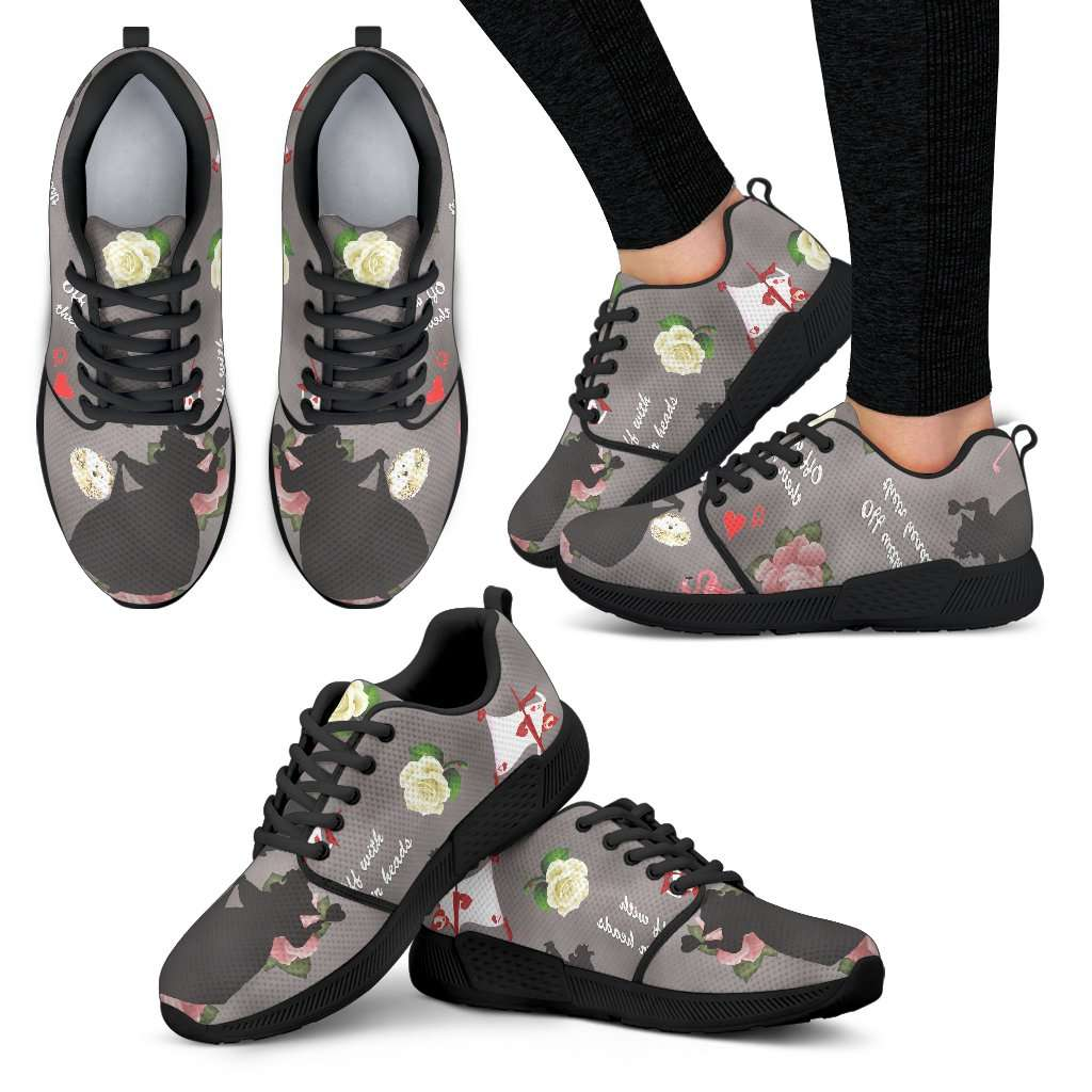 Queen Of Hearts Womens Athletic Sneakers