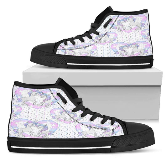 Unicorn In Love Heart Womens High Top Shoes - STUDIO 11 COUTURE