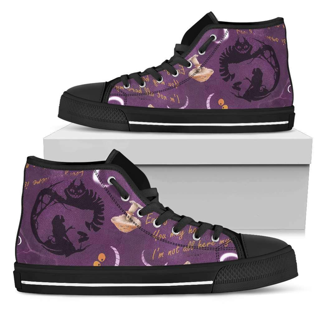 Cheshire Cat Womens High Top Shoes