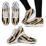 White Tiger Skin Womens Athletic Sneakers - STUDIO 11 COUTURE