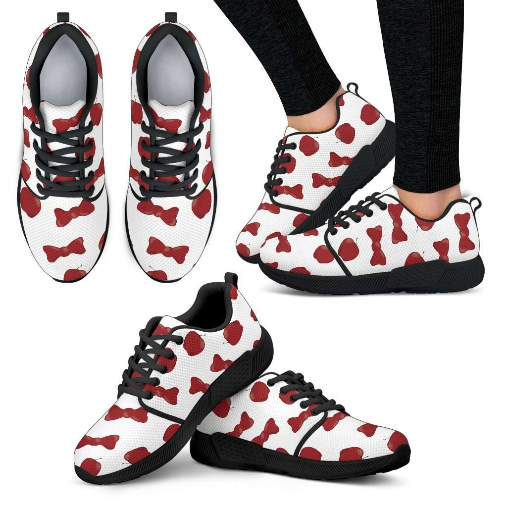Snow White Apples And Bows Womens Athletic Sneakers