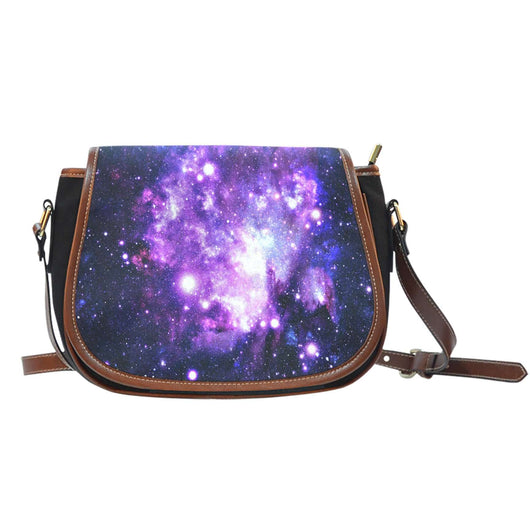 Galaxy 2 Crossbody Shoulder Canvas Leather Saddle Bag - STUDIO 11 COUTURE