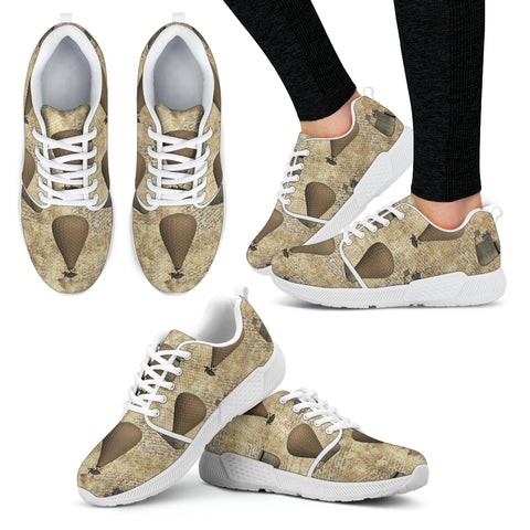 Old Hot Air Balloon Steampunk Women Athletic Sneakers