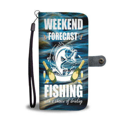 Custom Phone Wallet Available For All Phone Models Weekend Forecast Fishing With A Chance Of Drinking Phone Wallet - STUDIO 11 COUTURE