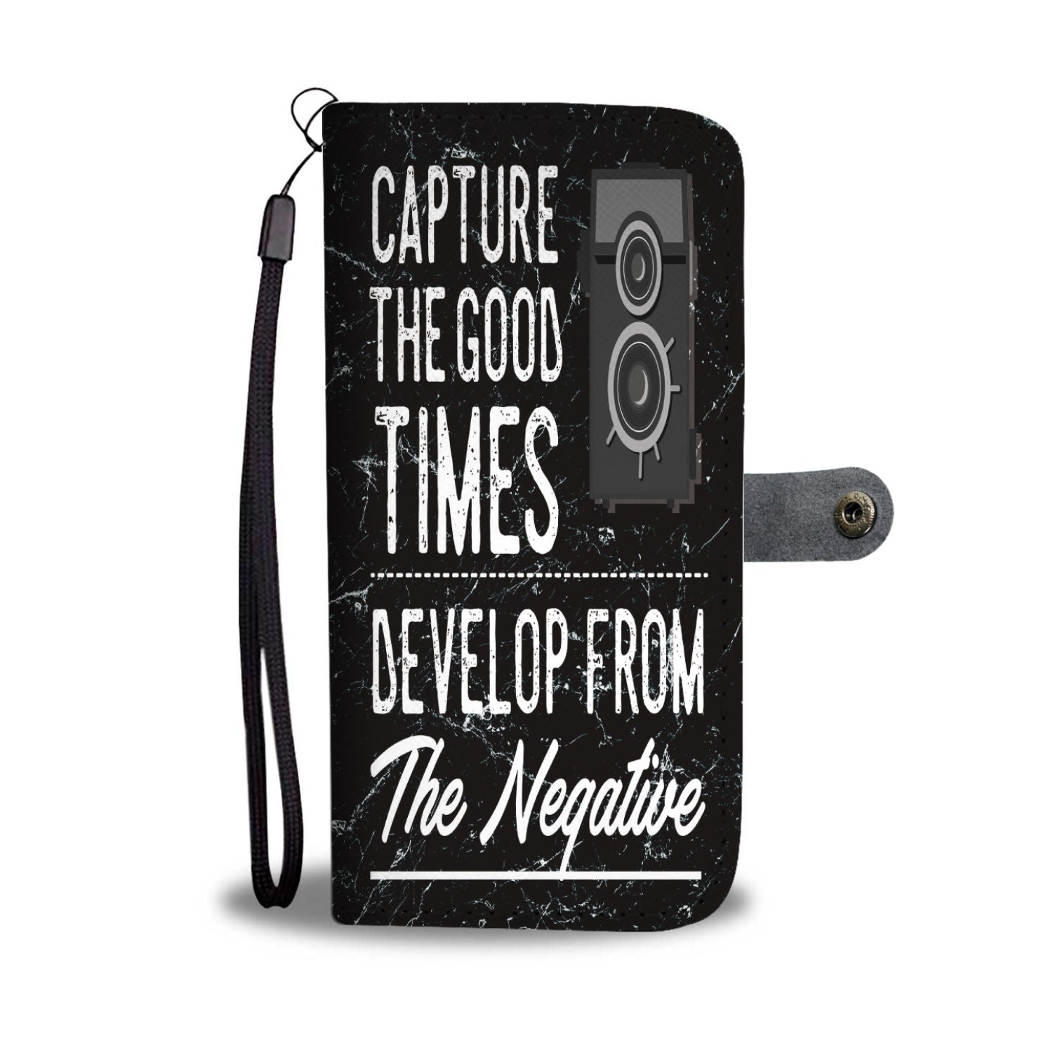 Custom Phone Wallet Available For All Phone Models Capture The Good Times Develop From The Negative Phone Wallet