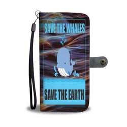 Custom Phone Wallet Available For All Phone Models Save The Whales Save The Earth Phone Wallet - STUDIO 11 COUTURE