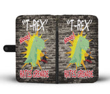 Custom Phone Wallet Available For All Phone Models T-Rex Hates Grenade Phone Wallet - STUDIO 11 COUTURE