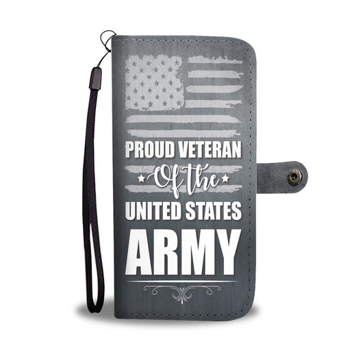 Custom Phone Wallet Available For All Phone Models Proud Veteran Of The United States Army Phone Wallet - STUDIO 11 COUTURE