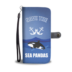 Custom Phone Wallet Available For All Phone Models Save Sea Pandas Phone Wallet - STUDIO 11 COUTURE
