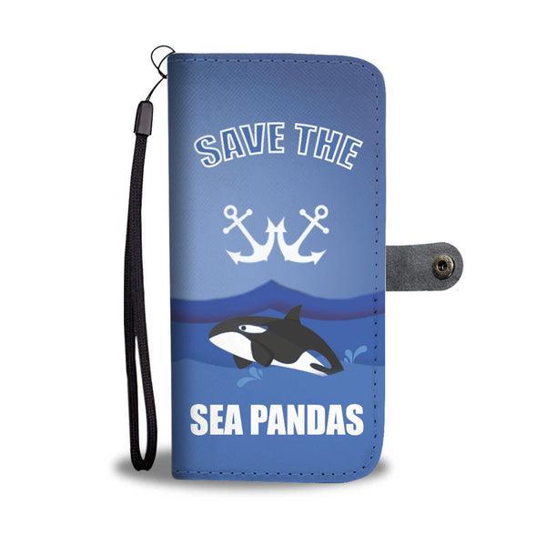 Custom Phone Wallet Available For All Phone Models Save Sea Pandas Phone Wallet