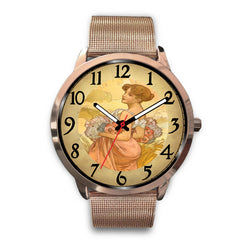 Limited Edition Vintage Inspired Custom Watch Alfred Mucha Clock 1.7