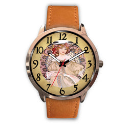 Limited Edition Vintage Inspired Custom Watch Alfred Mucha Clock 1.18