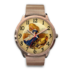 Limited Edition Vintage Inspired Custom Watch Alice Clock Face 1.3