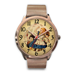 Limited Edition Vintage Inspired Custom Watch Alice Clock Face 1.4