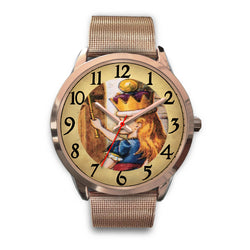 Limited Edition Vintage Inspired Custom Watch Alice Clock Face 1.7