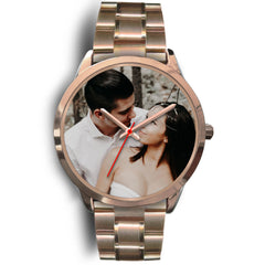 Personalized, Custom Design Your Own Wedding Watch Rose Gold Y1 With Your Personal Memory Photo, Gift For Her, Gift For Him