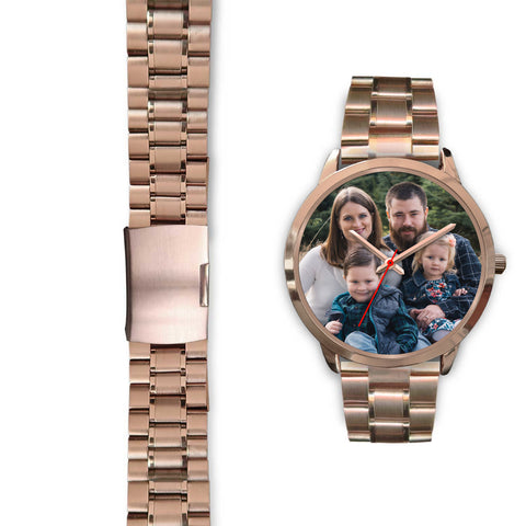 Personalized, Custom Design Your Own Family Watch S3 Rose Gold With Your Personal Memory Photo, Gift For Her, Gift For Him