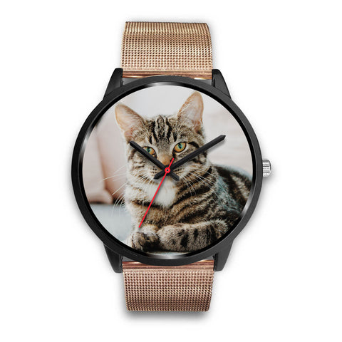 Custom Design Your Own Black Watch Cat A1 With Your Personal Memory Photo