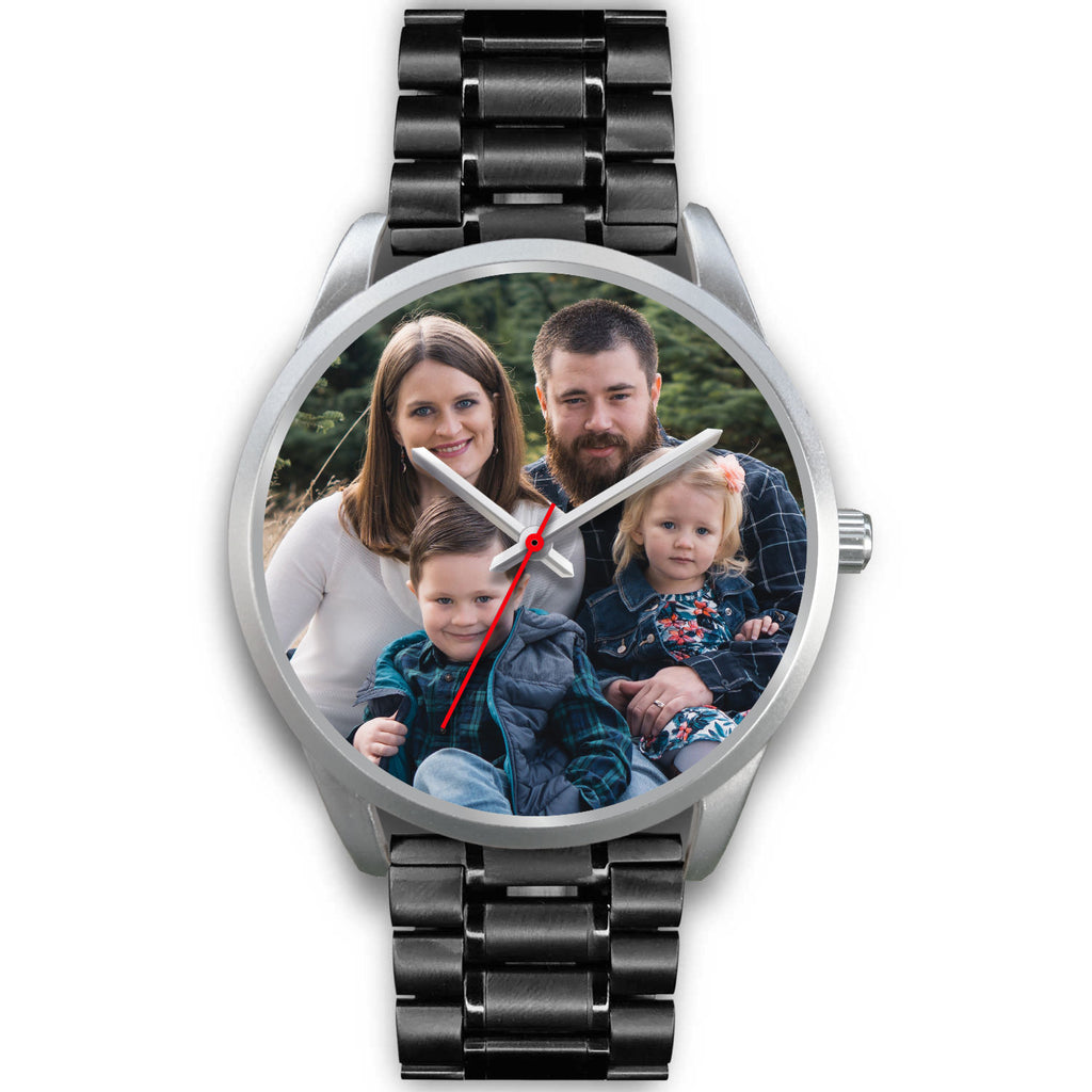 Personalized, Custom Design Your Own Family Watch S1 Silver With Your Personal Memory Photo., Gift For Her, Gift For Him