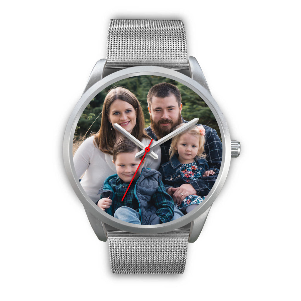 Custom Design Your Own Family Watch S1 Silver With Your Personal Memory Photo.