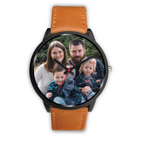 Personalized, Custom Design Your Own Family Watch S2 Black With Your Personal Memory Photo, Gift For Her, Gift For Him