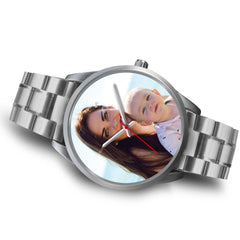 Custom Design Your Own Family Watch K1 Silver With Your Personal Memory Photo