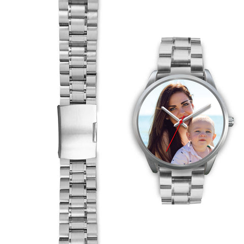Personalized, Custom Design Your Own Family Watch K1 Silver With Your Personal Memory Photo, Gift For Her, Gift For Him