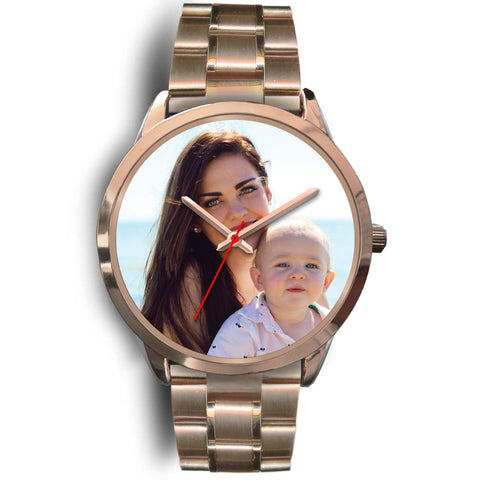 Personalized, Custom Design Your Own Family Watch K2 Rose Gold With Your Personal Memory Photo, Gift For Her, Gift For Him