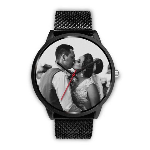 Personalized, Custom Design Your Own Wedding Watch Black W3 With Your Personal Memory Photo, Gift For Her, Gift For Him
